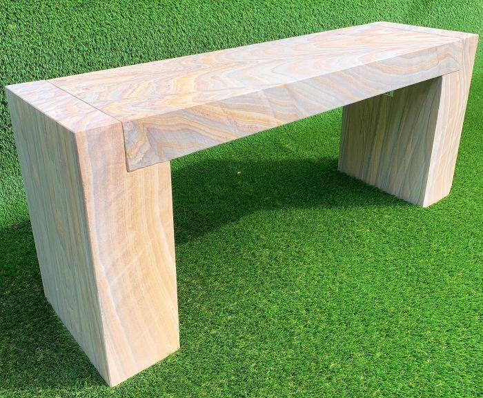 Fabulous Natural Stone Bench Rainbow Spiritservingveterans Wood Chair Design Ideas Spiritservingveteransorg