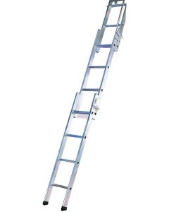 LYTE 3 SECTION EASILOFT ALUMINIUM LADDER 3.0M