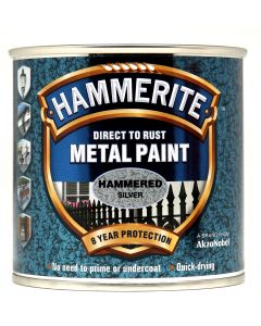 HAMMERITE METAL PAINT HAMMERED 750ML SILVER