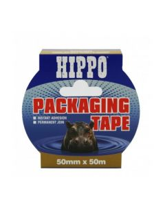 TEMBE HIPPO PACKING TAPE BROWN 50MM X 50M H18404
