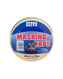 TEMBE HIPPO MASKING TAPE BEIGE 25X50M