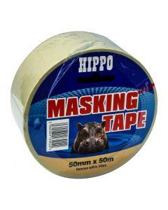 TEMBE HIPPO MASKING TAPE BEIGE 50X50M