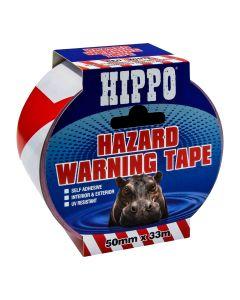 TEMBE HIPPO HAZARD BARRIER TAPE 50MMX33M RED/WHITE