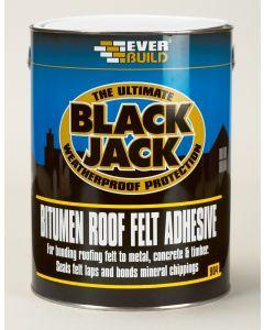 EVERBUILD 904 BLACK JACK ROOF FELT ADHESIVE 5L