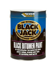 EVERBUILD BLACK JACK BITUMEN PAINT BLACK 5LTR