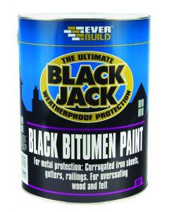 EVERBUILD BLACK JACK BITUMEN PAINT BLACK 2.5LTR