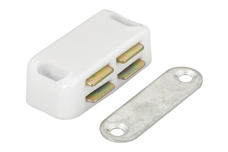 NEW Pack of 2 White Magnetic Catch 45mm