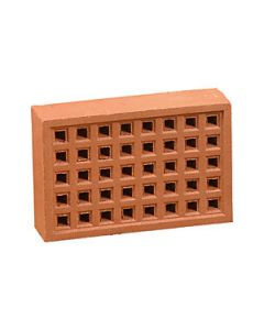 REDBANK 140MM CLAY AIR BRICK RED SQUARE HOLE