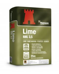 HANSON SUPAMIX NHL 3.5 NATURAL HYDRAULIC LIME 25KG BAG