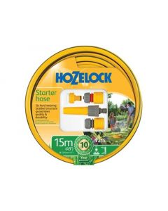 HOZELOCK STARTER HOSE SET 15M 12.5MM DIA (COMPLETE WITH FITTINGS)