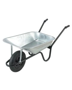 WALSALL WHEELBARROW 85L GALV HEAVY DUTY C/W PNEUMATIC WHEEL