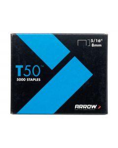 ARROW STAPLES BOX 1250 505 T50 8MM
