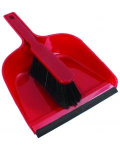 RODO DUST PAN & BRUSH SET IN RED