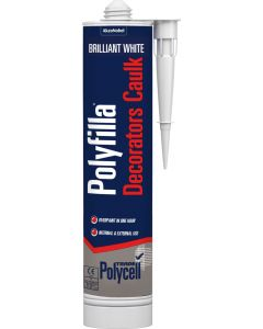 POLYCELL DECORATORS CAULK WHITE 380ML