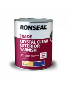 RONSEAL TRADE CRYSTAL CLEAR OUTDOOR VARNISH 750ML