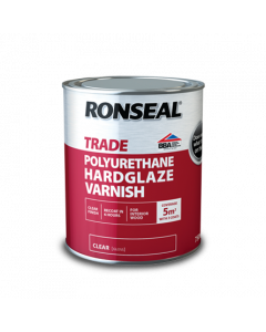 RONSEAL TRADE INTERIOR POLYURETHANE HARDGLAZE VARNISH 750ML