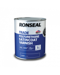 RONSEAL TRADE INTERIOR POLYURETHANE SATINCOAT VARNISH 750ML