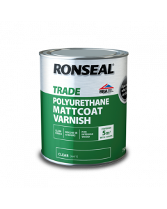 RONSEAL TRADE INTERIOR POLYURETHANE MATTCOAT VARNISH 750ML