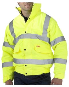 BEESWIFT HI VIS BOMBER JACKET YELLOW