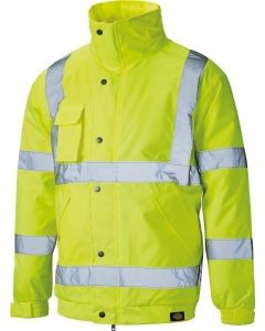 DICKIES SA22050 HI VIZ BOMBER JACKET YELLOW