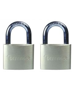 DEFENDER TWINPACK BRASS PADLOCK 40MM