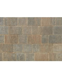 STONEMARKET TRIDENT BLOCK PAVING SMALL BURNT OCHRE 120MM X 160MM X 50MM