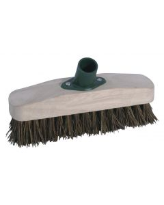 "RODO 9"" STIFF DECK SCRUB HEAD: NATURAL FIBRE"