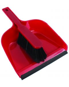 RODO DUST PAN & BRUSH SET IN RED