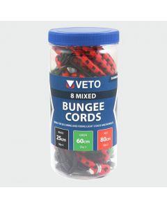TIMCO 8 PCS MIXED SET BUNGEE CORD
