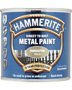 HAMMERITE METAL PAINT SMOOTH 750ML GOLD