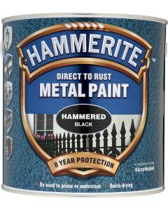 HAMMERITE METAL PAINT HAMMERED 750ML BLACK