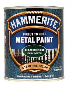 HAMMERITE METAL PAINT HAMMERED 750ML DARK GREEN