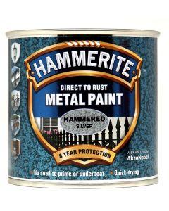 HAMMERITE METAL PAINT HAMMERED 750ML SILVER