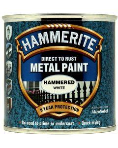 HAMMERITE METAL PAINT HAMMERED 750ML WHITE