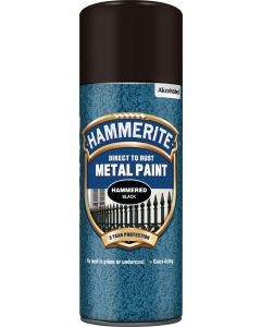 HAMMERITE METAL PAINT HAMMERED AERO 400ML BLACK