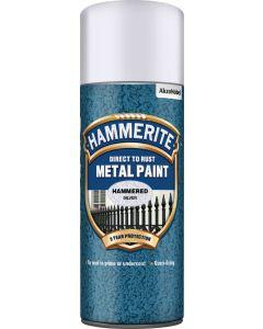 HAMMERITE METAL PAINT HAMMERED AERO 400ML SILVER