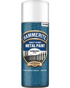 HAMMERITE METAL PAINT HAMMERED AERO 400ML WHITE