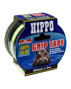 TEMBE HIPPO ANTI-SLIP GRIP TAPE 50MMX3MTR BLACK/LUMINOUS