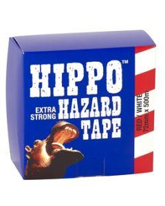 TEMBE HIPPO HAZARD BARRIER TAPE 72MMX500M YELLOW/BLACK