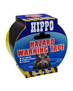 TEMBE HIPPO HAZARD BARRIER TAPE 50MMX33M YELLOW/BLACK