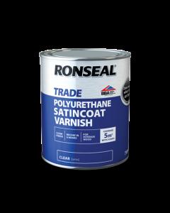 RONSEAL TRADE INTERIOR POLYURETHANE SATINCOAT VARNISH 750ML