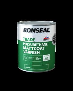 RONSEAL TRADE INTERIOR POLYURETHANE MATTCOAT VARNISH 750ML